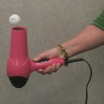 Levitate a ball with a hair dryer. (Susan Jeppesen, Salt Lake County Library)