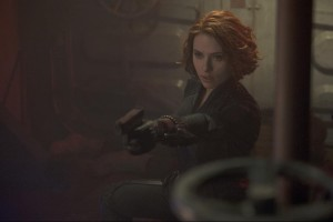 """'Age of Ultron' sees Black Widow yet again employing her feminine charms to help advance a fellow male teammate's personal growth,"" The Daily Beast's Jen Yamato wrote in her assessment of the film's ""Black Widow problem."" (Walt Marvel Studios)"