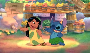 "Lilo, left, teaches Stitch to hula in the Disney animated comedy ""Lilo & Stitch."" (Disney)"