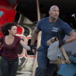 "Carla Gugino as Emma and Dwayne Johnson as Ray in the action thriller ""San Andreas,"" a production of New Line Cinema and Village Roadshow Pictures, released by Warner Bros. Pictures. (Jasin Boland, Warner Bros.)"
