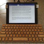 Steve Eaton's fourth-string wooden keyboard is a wooden one. (Steve Eaton)