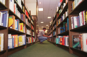 A customor peruses books at Barnes and Noble in Salt Lake City in October 1997. (RAVELL CALL, DESERET NEWS)