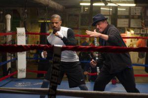 Sylvester Stallone and Michael B. Jordan in Creed (2015) (Warner Bros.)