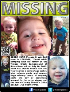 DeOrr Kunz Jr. Missing Flier
