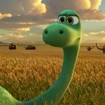 "Spot, voiced by Jack Bright, left, and Arlo, voiced by Raymond Ochoa, in a scene from ""The Good Dinosaur.""  (Pixar/Disney)"