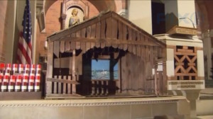 A baby with an umbilical cord still attached was discovered this week in a Nativity scene at a New York church, according to church staff.