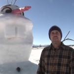 Montana dad builds 'Olaf' snowman for his special-needs daughter