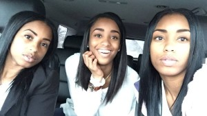 "When Kaylan Mahomes posted a recent car selfie with her twin, Kyla, and their mother, Tina, the social media world went into confusion. The caption by the high schooler read, ""Mom, twin and me."" But because all three share the same youthful glow -- it looks more like a picture of triplets -- everyone is still trying to figure out which one is the mom."