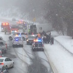 Embargoed to Hartford, CT  Emergency crews are responding to a bus rollover accident on I-95 north in Madison Monday afternoon. The highway is shut down while crews respond.