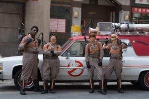 Leslie Jones, Melissa McCarthy, Kate McKinnon and Kristen Wiig in Ghostbusters (2016) (Columbia Pictures)