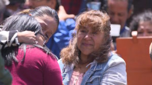 Gabi Esparza hasn't seen her mother and sister face-to-face in nine years. But last weekend, she got to see them for three minute at United States-Mexico border.