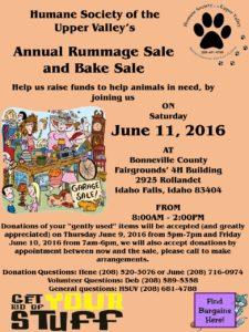 Rummage sale flyer2016