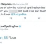"An Internet troll found out the hard way that the kids on stage aren't the only people who can spell at the Scripps National Spelling Bee. During Thursday's competition, a Twitter user criticized the spelling bee for having a ""comfort couch"" for competitors to calm down after they were eliminated. In his tweet he mispelled the word lose which the National Spelling Bee's Twitter account made him aware of."
