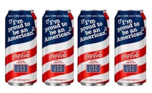 Coca-Cola is rolling out the new cans to celebrate its 75-year partnership with the United Service Organizations.