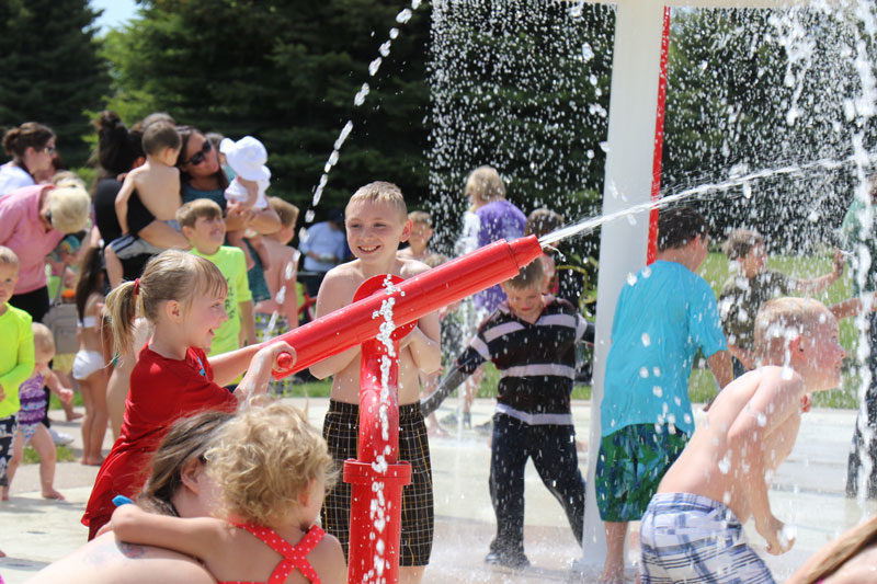 Ammon Swimming Pool: Ammon Officials And Local Children Open Water Valves On