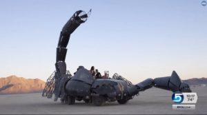 Giant Fire Spitting Scorpion
