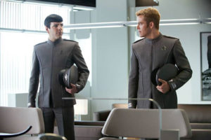 "Zachary Quinto as Mr. Spock, left, and Chris Pine as Capt. Kirk, lead the cast of ""Star Trek Beyond,"" which opens in theaters July 22."