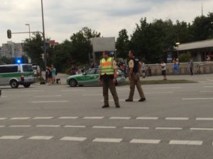 The shooting at a Munich shopping mall is over, police spokeswoman Claudia Kvenzel said. Police are asking people to avoid the area. Kvenzel had no further information.
