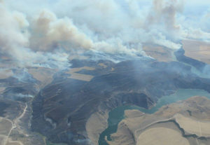 fire ririe reservoir