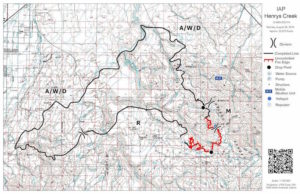 Henrry's Creek Fire Perimeter Map August 29 2016