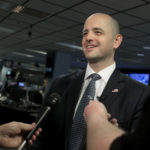 Independent presidential candidate Evan McMullin speaks to Deseret News, KSL-TV and KSL Radio reporters at the Triad Center in Salt Lake City on Wednesday, Oct. 12, 2016. (Laura Seitz, Deseret News)