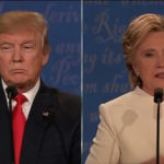 Donald Trump and Hillary Clinton Final presidential debate on October 19,2016.