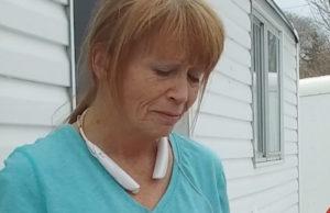 Annette Lott crying