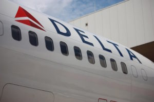 [FILE] A Delta Airlines jet sits on the tarmac at the Atlanta Hartsfield-Jackson International Airport.